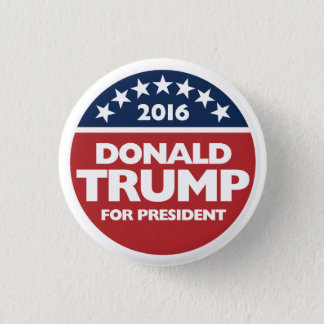 Donald Trump für Präsidenten 2016 Runder Button 3,2 Cm
