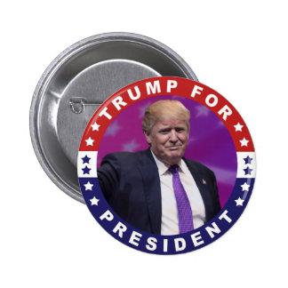 Donald Trump für Präsidenten Foto Retro Button
