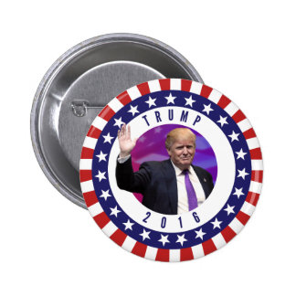 Donald Trump für Präsidenten Foto Retro Button