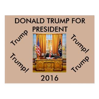 Donald Trump für Präsidentenpostkarte Postkarte