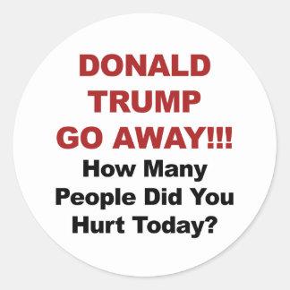 Donald Trump gehen weg Runder Aufkleber