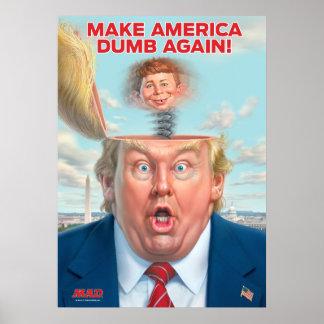 """Donald Trump """"machen Amerika stummes wieder"""" Poster"""