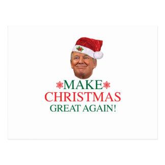 Donald Trump - machen Sie Weihnachten große wieder Postkarte