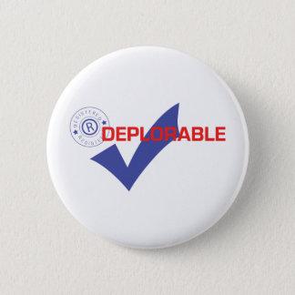 Donald Trump registrierte bedauernswerten Knopf Runder Button 5,1 Cm