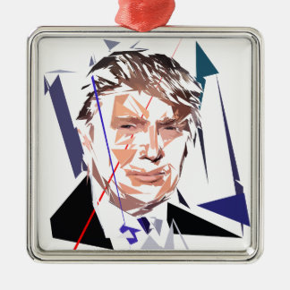 Donald Trump Silbernes Ornament