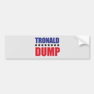 Donald Trump - Tronald Dump-Autoaufkleber Autoaufkleber