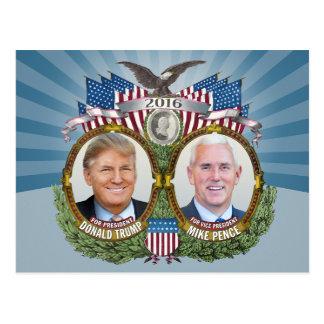 Donald- Trump u. Mike-Pennys Jugate Foto-blauer Postkarte