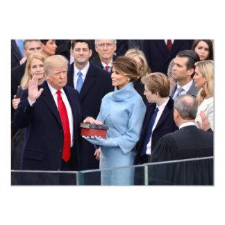 Donald Trump wird herein als Präsident geschworen Karte
