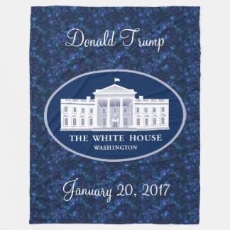 Donald- Trumpeinweihungs-Tag u. das Weiße Haus Fleecedecke