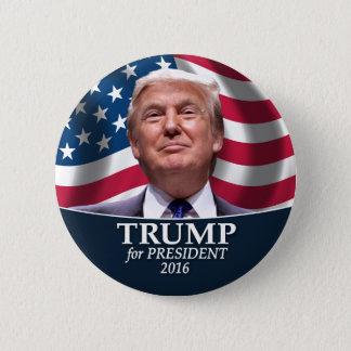 Donald- TrumpFoto - Präsident 2016 Runder Button 5,7 Cm