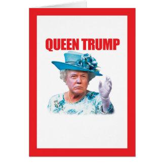Donald- Trumpkönigin-Trumpf Grußkarte