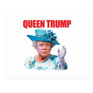 Donald- Trumpkönigin-Trumpf-Postkarte Postkarte
