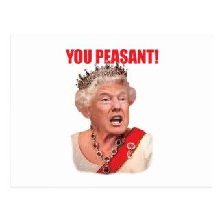 Donald- Trumpkönigin-Trumpf Sie ländliche Postkarte