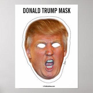 Donald- Trumpmasken-Ausschnitt Poster