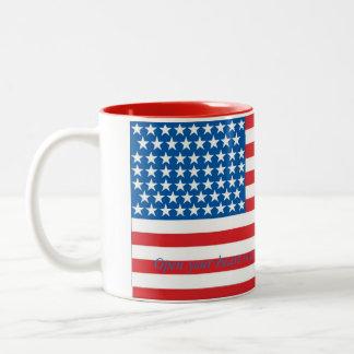 Donald- Trumppatriotismus-Tasse Zweifarbige Tasse