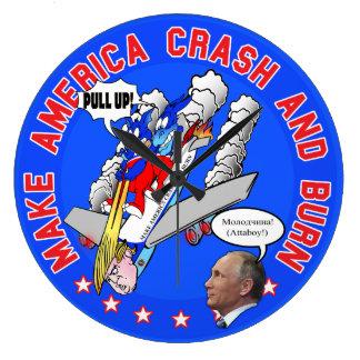Donald- TrumpTag des Jüngsten Gerichts-Uhr (groß) Große Wanduhr