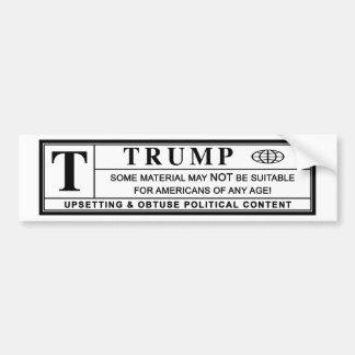 Donald- TrumpWarnschild Autoaufkleber