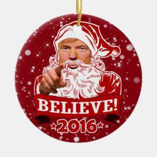 Donald- Trumpweihnachten glauben Keramik Ornament