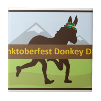 Donktoberfest Esel-Schlag Fliese