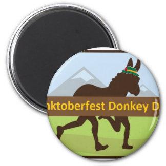 Donktoberfest Esel-Schlag Runder Magnet 5,1 Cm