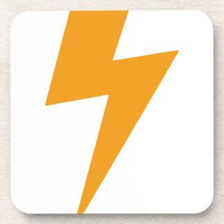 Donner-Energie-Gelb-Druck Getränkeuntersetzer
