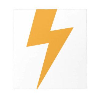 Donner-Energie-Gelb-Druck Notizblock
