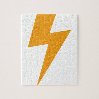 Donner-Energie-Gelb-Druck Puzzle