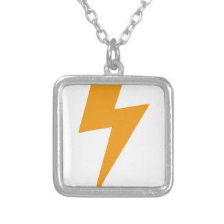 Donner-Energie-Gelb-Druck Versilberte Kette
