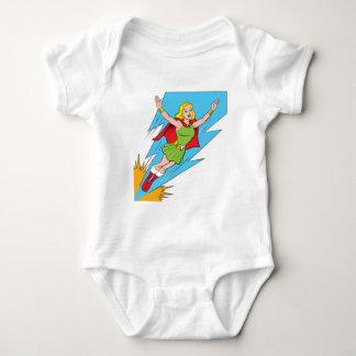 Donner-Mädchen-Fliegen Baby Strampler