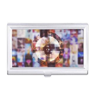 Donner-perfekter SinnesVisitenkarte-Kasten Visitenkarten Etui