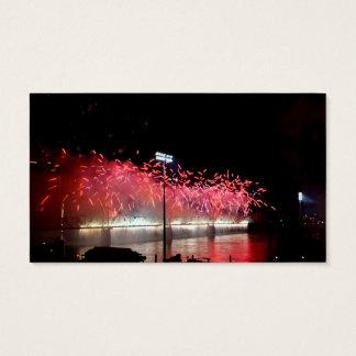 Donner über Louisville-Feuerwerken Visitenkarte
