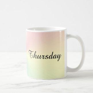 Donnerstags-Schimmer-Kaffee-Tasse durch Janz Kaffeetasse