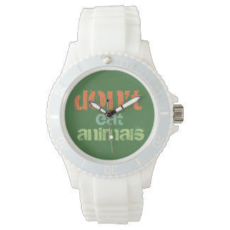 don't eat animals - W01 Handuhr