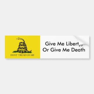 DontTreadONMe, geben mir Freiheit oder geben mir Autoaufkleber