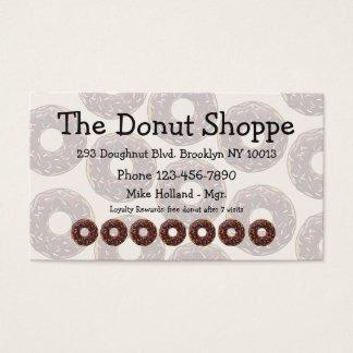 Donut-Shop-Krapfen-Loyalitäts-Karten Visitenkarte