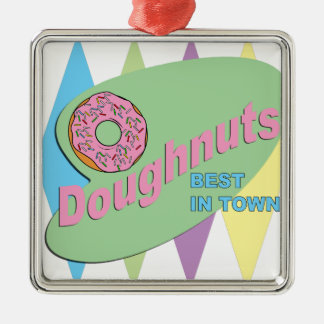 Donut-Shop Silbernes Ornament