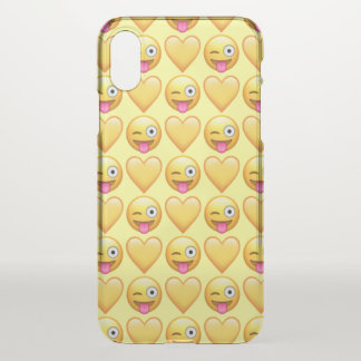 Doof Emoji iPhone X Clearly™ Fall iPhone X Hülle