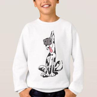 Doof Harlekin-Deutsche Dogge Sweatshirt