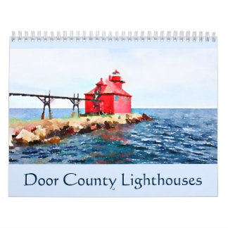 Door County Leuchtturm-Aquarell Kalender