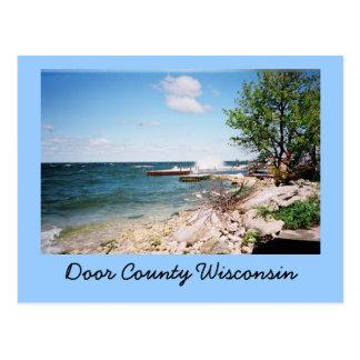 Door County Wisconsin Postkarte