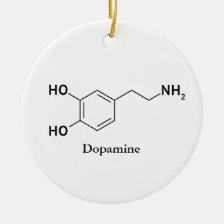 Dopamin-Molekül-Chemie-Biochemie Keramik Ornament