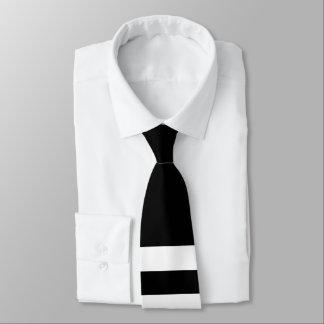 Doppel-Gestreifte Hals-Schwarzweiss-Krawatte Krawatte