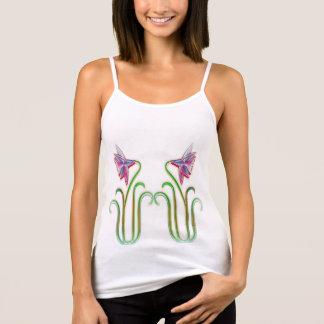 DoppelBlumen-Illustrations-Kunst auf T-Shirts