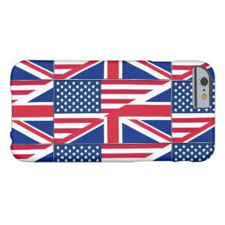 Doppelbürger-amerikanischer u. britischer Flagge Barely There iPhone 6 Hülle