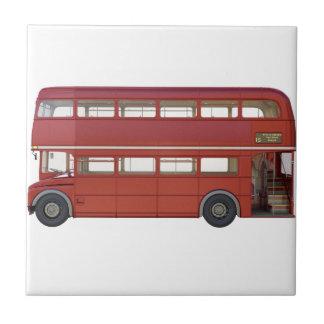 Doppeldecker-Rot-Bus Fliese
