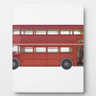 Doppeldecker-Rot-Bus Fotoplatte