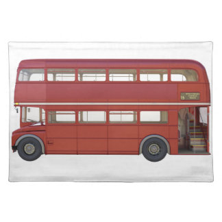 Doppeldecker-Rot-Bus Tischset