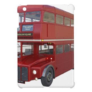 Doppeldecker-roter Bus im vorderen Profil iPad Mini Hülle