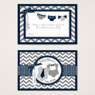 Doppeljungen-Krawatte Bogen-Krawatte Visitenkarte