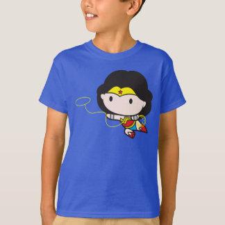Doppelseitige Chibi Wunder-Frau T-Shirt
